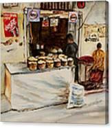 African Corner Store Canvas Print