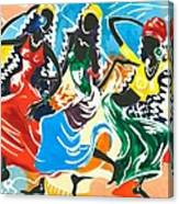 African Dancers No. 2 Canvas Print