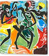 African Dancers No. 3 Canvas Print