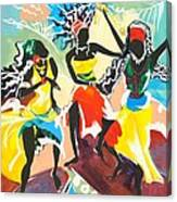 African Dancers No. 4 Canvas Print