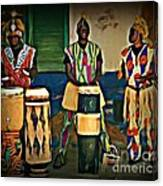 African Drummers Canvas Print