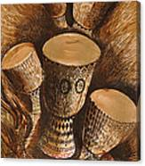 African Drums Canvas Print