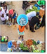 African Market, Assomada, Santiago Canvas Print