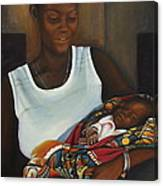 African Mother And Child Canvas Print