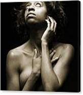 Chynna African American Nude Girl In Sexy Sensual Photograph And In Black And White Sepia 4789.01 Canvas Print