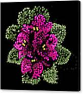 African Violets Bedazzled Canvas Print