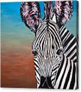 African Zebra Canvas Print