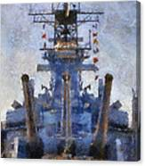 Aft Turret 3 Uss Iowa Battleship Photoart 02 Canvas Print
