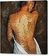 After A Bath Canvas Print