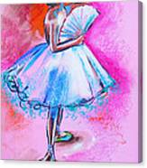 After Master Degas Ballerina With Fan Canvas Print