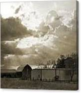 After The Storm On The Farm Canvas Print