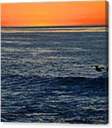 After The Sunset Glow In La Jolla Canvas Print