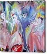 Afternoon Bird Ballet Canvas Print