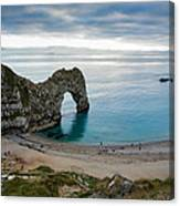 Afternoon Cloud Breaking Up At Durdle Door Canvas Print