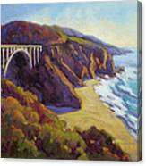 Afternoon Glow 3 / Big Sur Canvas Print