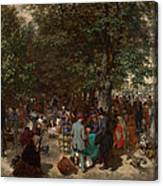 Afternoon In The Tuileries Gardens Canvas Print