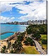 Afternoon On Waikiki Canvas Print