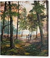 Afternoon Ride Through The Forest Canvas Print