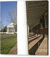 Afternoon Shadows Spread Across The Dorms Rooms Along The Lawn Canvas Print