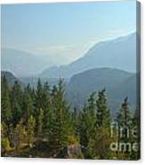Afternoon Smoke At The Tantalus Mountains Canvas Print
