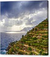 Afternoon Storm Clouds Over The Sea Canvas Print