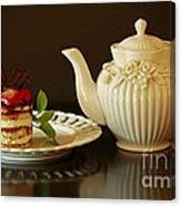 Afternoon Tea And Tiramisu Canvas Print