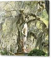 Afton Plantation Villa Statuary Canvas Print