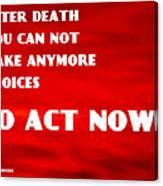 Against Suicide Canvas Print