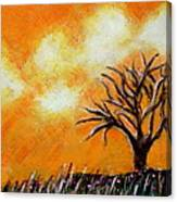 Against The Yellowing Sky Canvas Print