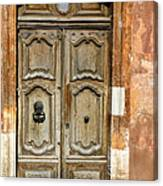 Aged Door In Provence Canvas Print