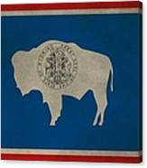 Aged Wyoming State Flag Canvas Print