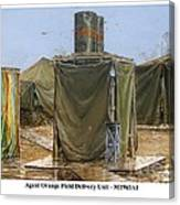 Agent Orange Field Delivery Unit Canvas Print