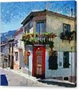 Agiassos Village Canvas Print