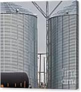 Agricultural Grain Silos Exterior Railway Wagon Canvas Print