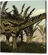 Agustinia Dinosaur Walking Amongst Canvas Print