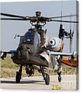 Ah-64d Apache Longbow Of The Royal Canvas Print