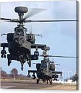 Ah64d Apache Longbow Helicopters  Canvas Print