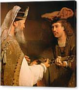 Ahimelech Giving The Sword Of Goliath To David Canvas Print
