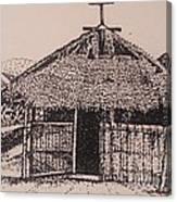 Ahka Village Church Canvas Print