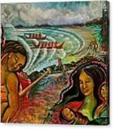 Ahousaht Mural  Canvas Print