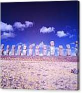 Ahu Tongariki Infrared Canvas Print