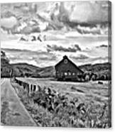 Ah...west Virginia Oil Bw Canvas Print