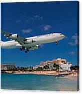 Air France At St. Maarten Canvas Print