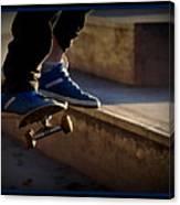 Airborne Skateboarder Canvas Print
