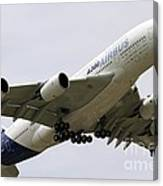 Airbus A380 In Flight Canvas Print