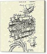 Aircraft Propulsion 1946 Patent Art Canvas Print