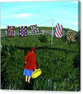 Airing Grandmother's Quilts Canvas Print