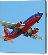 Airliner Landing At Sky Harbor Phoenix Arizona Canvas Print