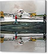 Airplane Crash Drill Landscape Altered Version Canvas Print