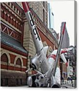 Airplane Sculpture In Philadelphia Pa - Navy S2f Canvas Print